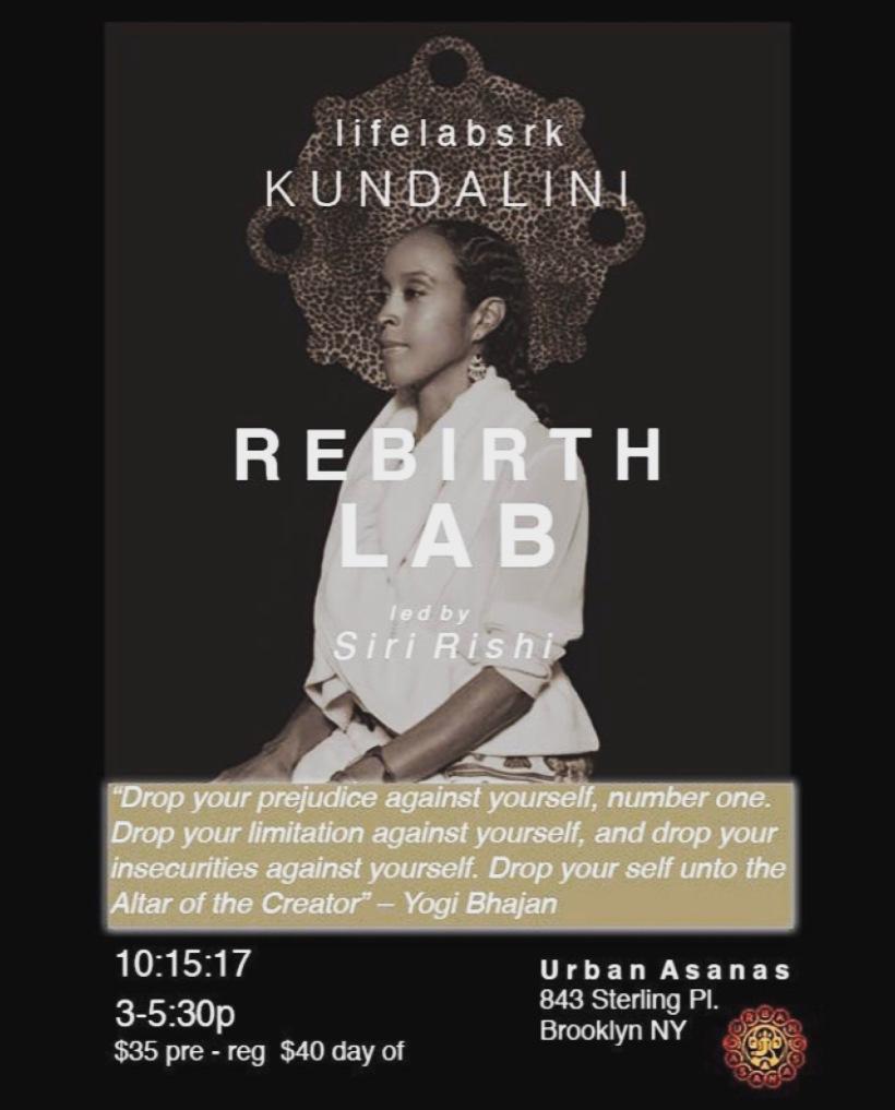 Rebirth Lab lifelabsrk Siri Rishi