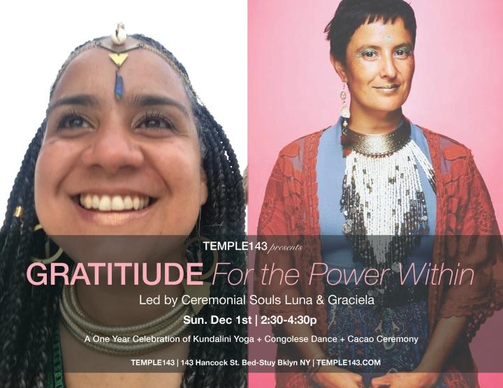 Luna & Graciela Attitude of Gratitude at TEMPLE143