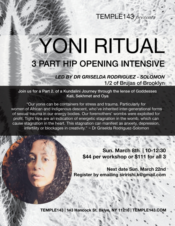 Yoni Workshop with Gris 8